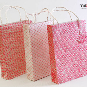 Nepal_Handmade_Lokta_Gift_Bag_Pattern_3Sets_YetiCrafts