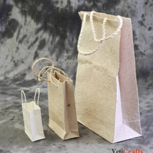 Nepal_Handmade_Lokta_Gift_Bag_Pattern_Natural_3Sets