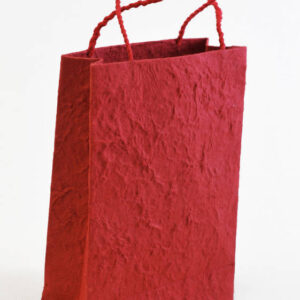 Nepal_Handmade_Lokta_Gift_Bag_Red_YetiCrafts