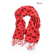 Red-pattern-Scarf-silk