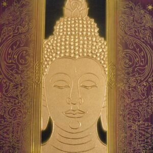 Thai-Handmade-Canvas-Painting-Buddha-Framed