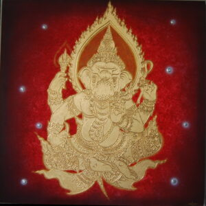 Thai-Handmade-Canvas-Painting-Lord-Ganesh