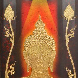 Thailand_handmade_painting_buddha_framed