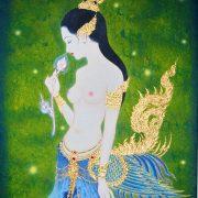 thai-canvas-painting-apsara