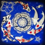 thai-canvas-painting-fish-art-3-blue