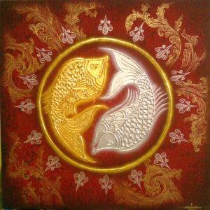 thai-canvas-painting-fish-art