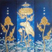 thai-canvas-painting-flower-2