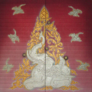 thai-canvas-painting-sitting-elephant2