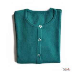 Chyangra_Cashmere_Ladies_Cardigan_Teal