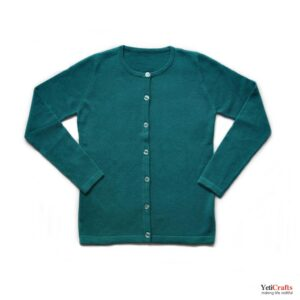 Chyangra_Cashmere_Ladies_Cardigan_Teal_1