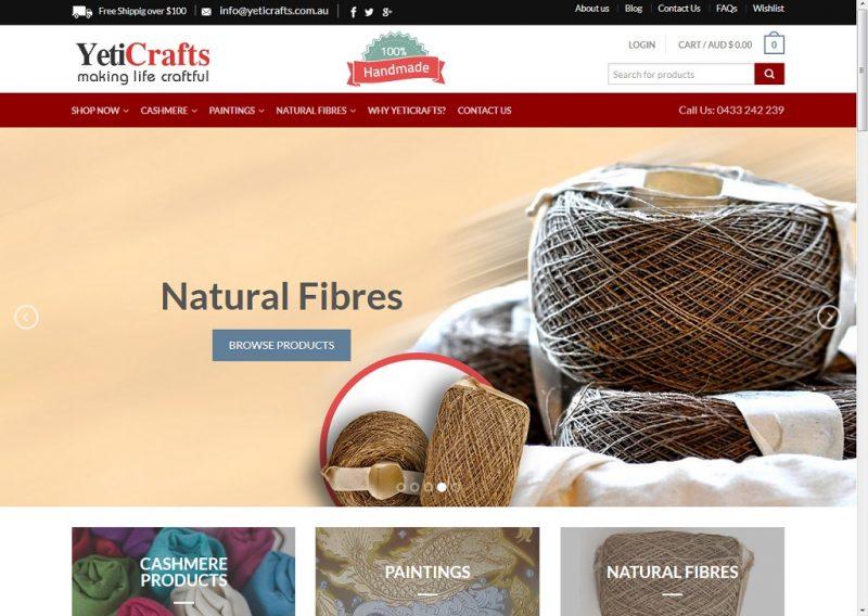 yeticrafts new website look 2016
