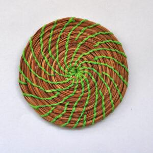 green-pine-needle-coaster-4inch