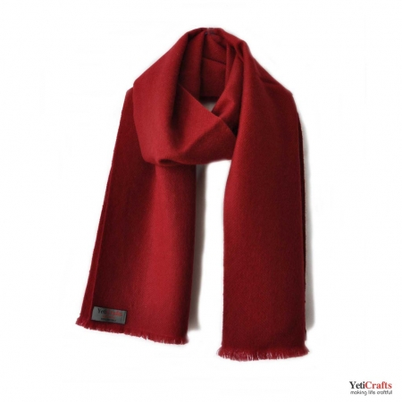 Men Cashmere Scarf - Red