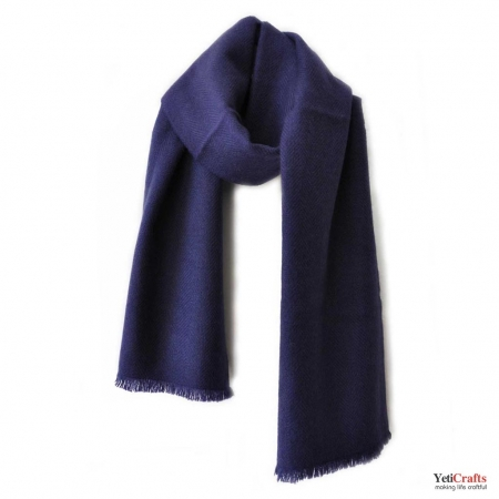 Men Cashmere Scarf - Blue