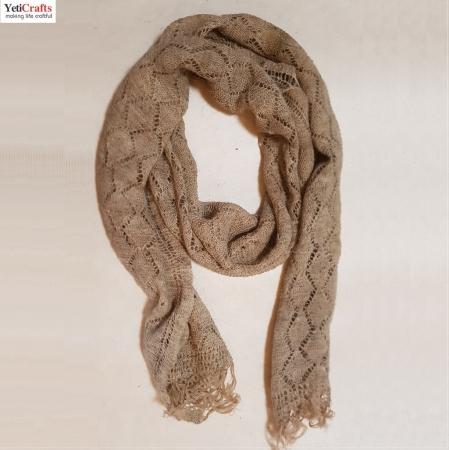 "Handmade Nettle Yarn ""Allo"" Scarf 180 x 60 cm"