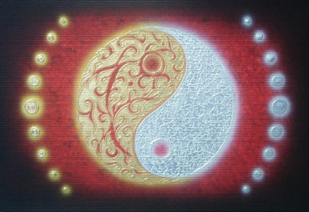 Authentic Thai Handmade Canvas Painting - YinYang
