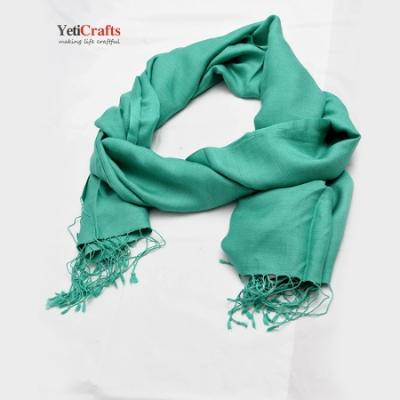 Nepal Silk Scarf - Light Green