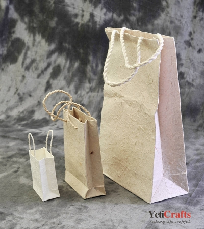 Natural Handmade Lokta Bag - 3 Sets